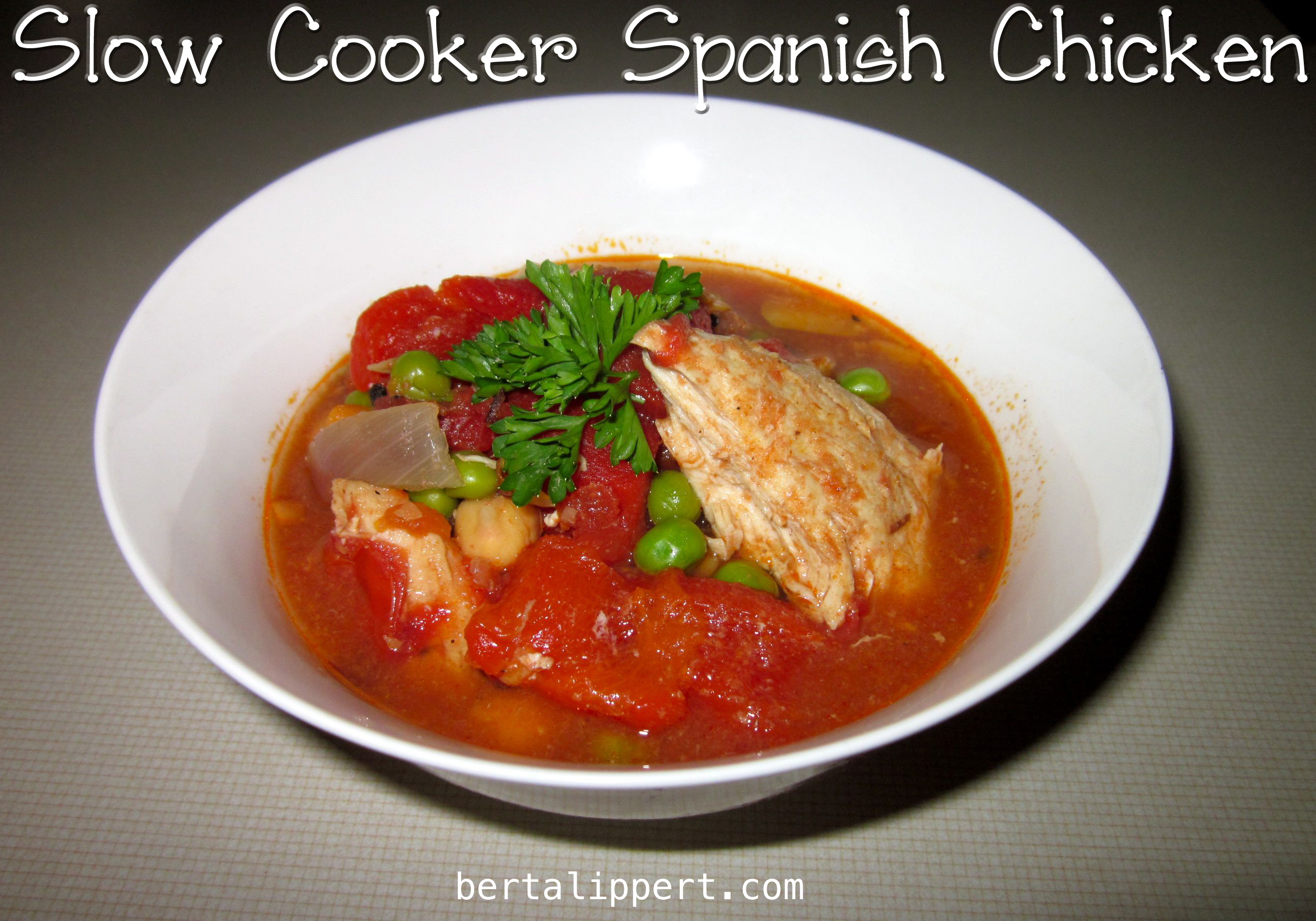 slow cooker spanish chicken
