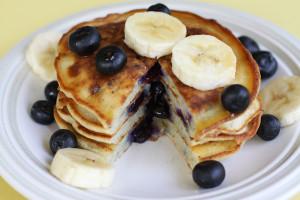 Blueberry-Banana-Protein-Pancake