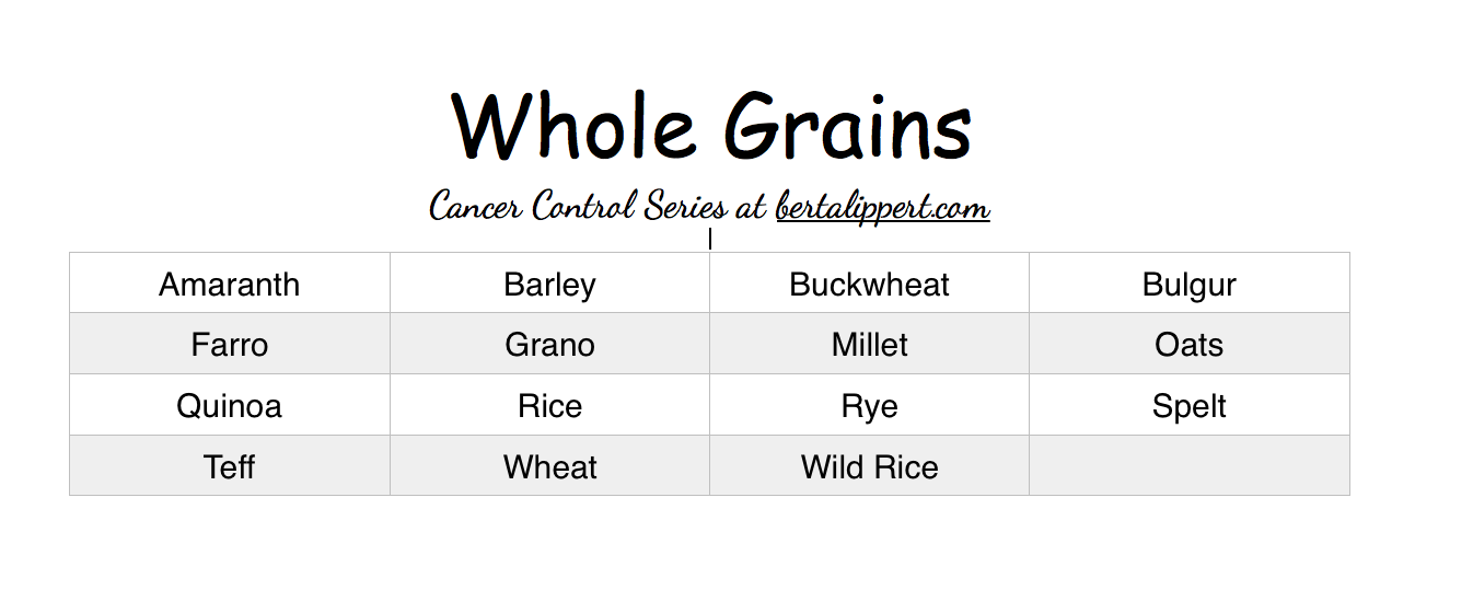 ... list below. To learn more about each of these whole grains, visit the