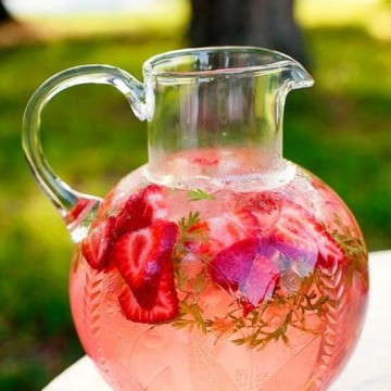 strawberry mint water