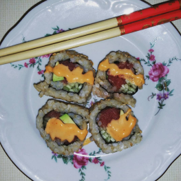 ethnic food sushi
